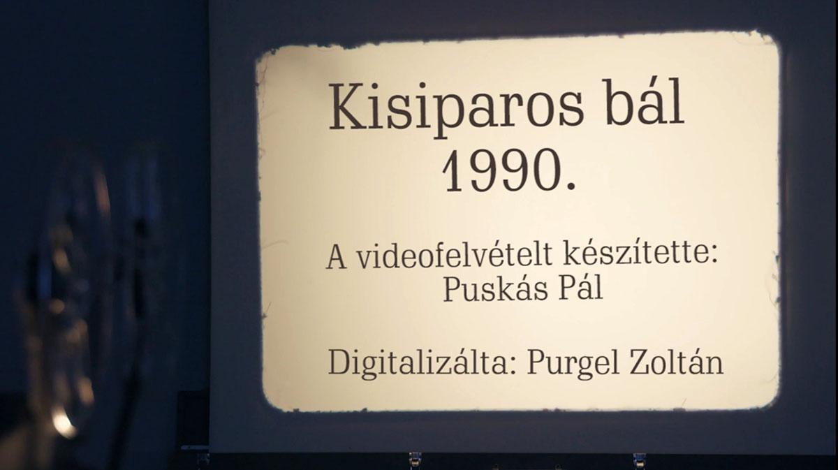 Kisiparos bál 1990.
