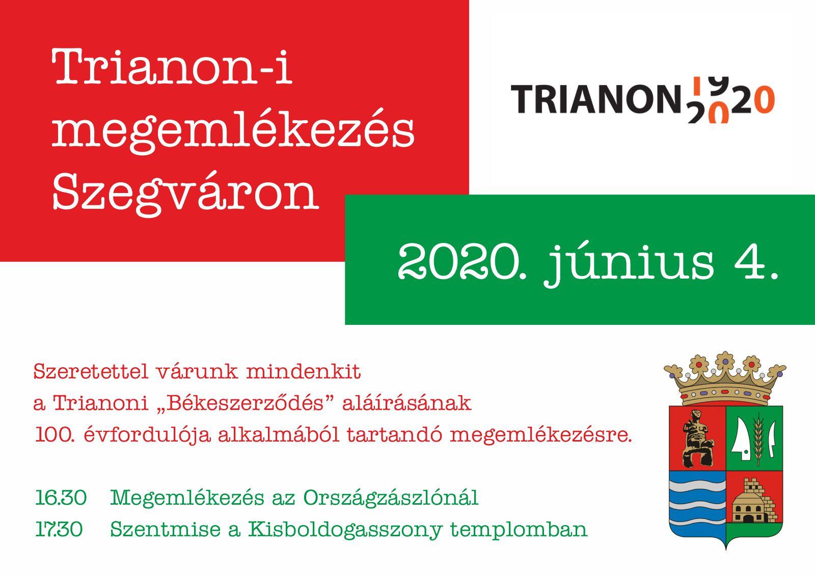 Trianon-i megemlékezés Szegváron