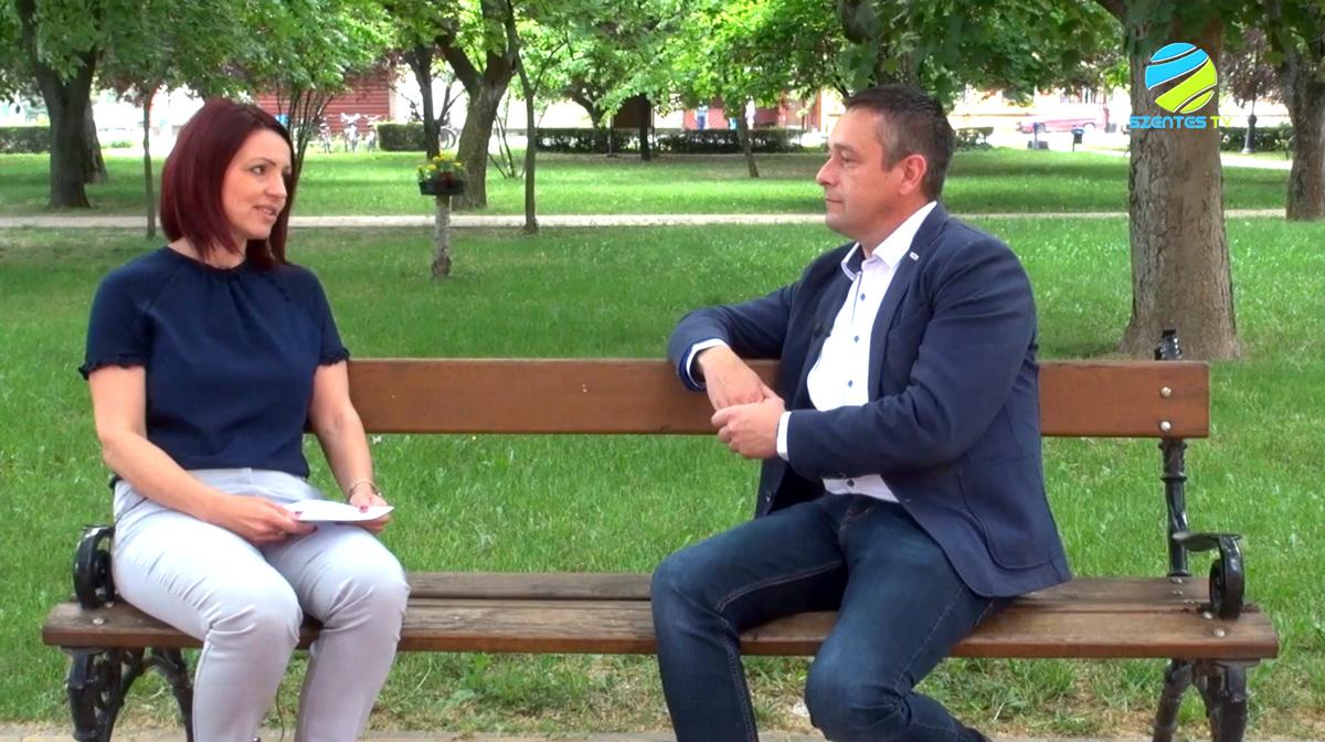 Riport Szabó Tibor György polgármesterrel a Szentes TV-n