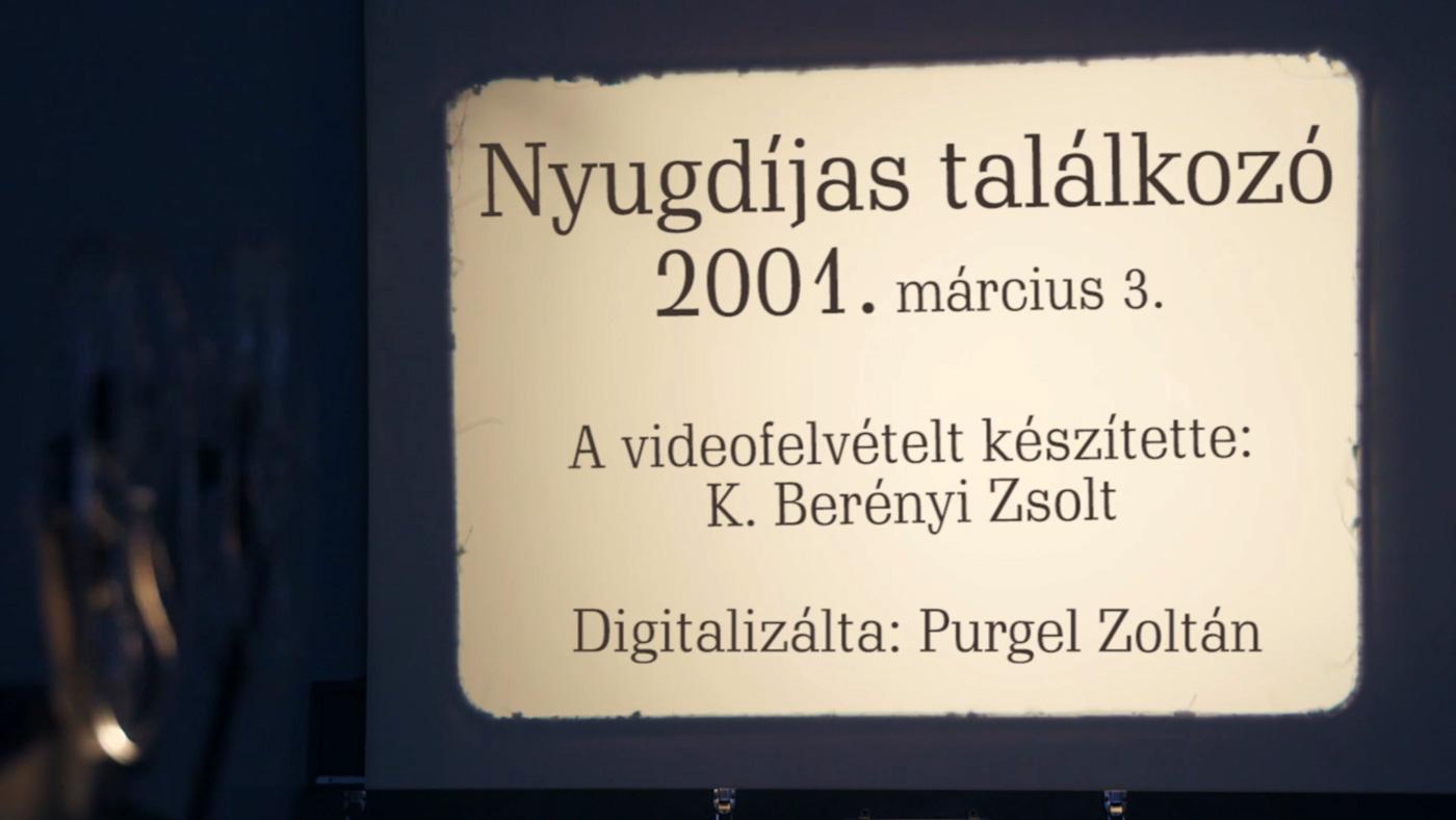 Nyugdíjas találkozó 2001.