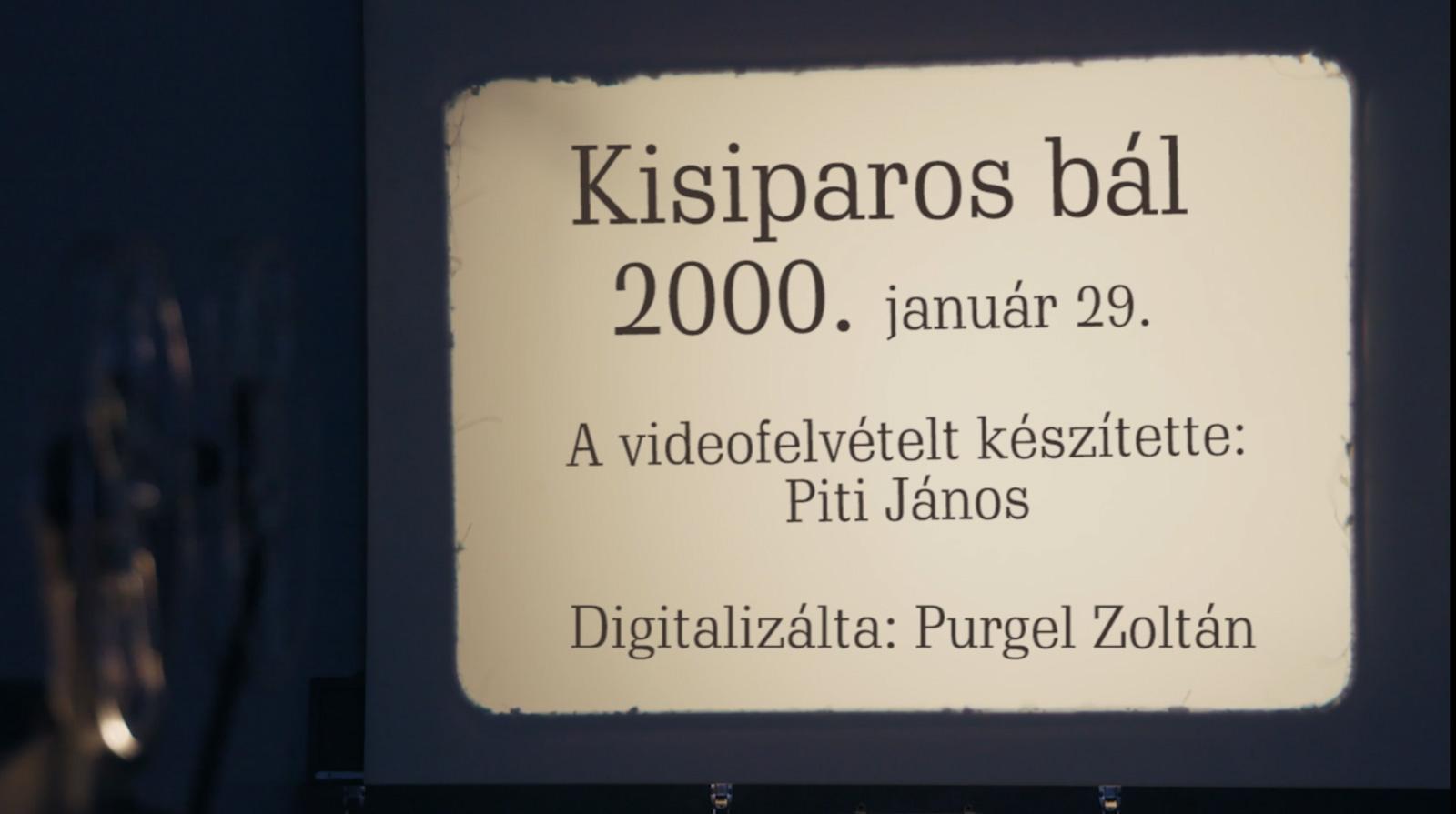 Kisiparos bál 2000.