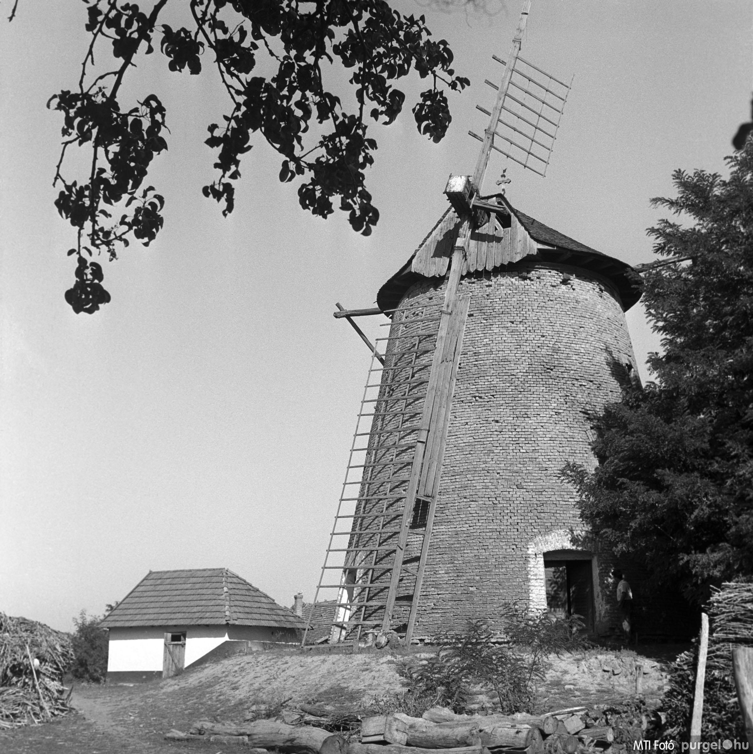 Szegvári szélmalom II. Szegvár, 1962. szeptember 17.