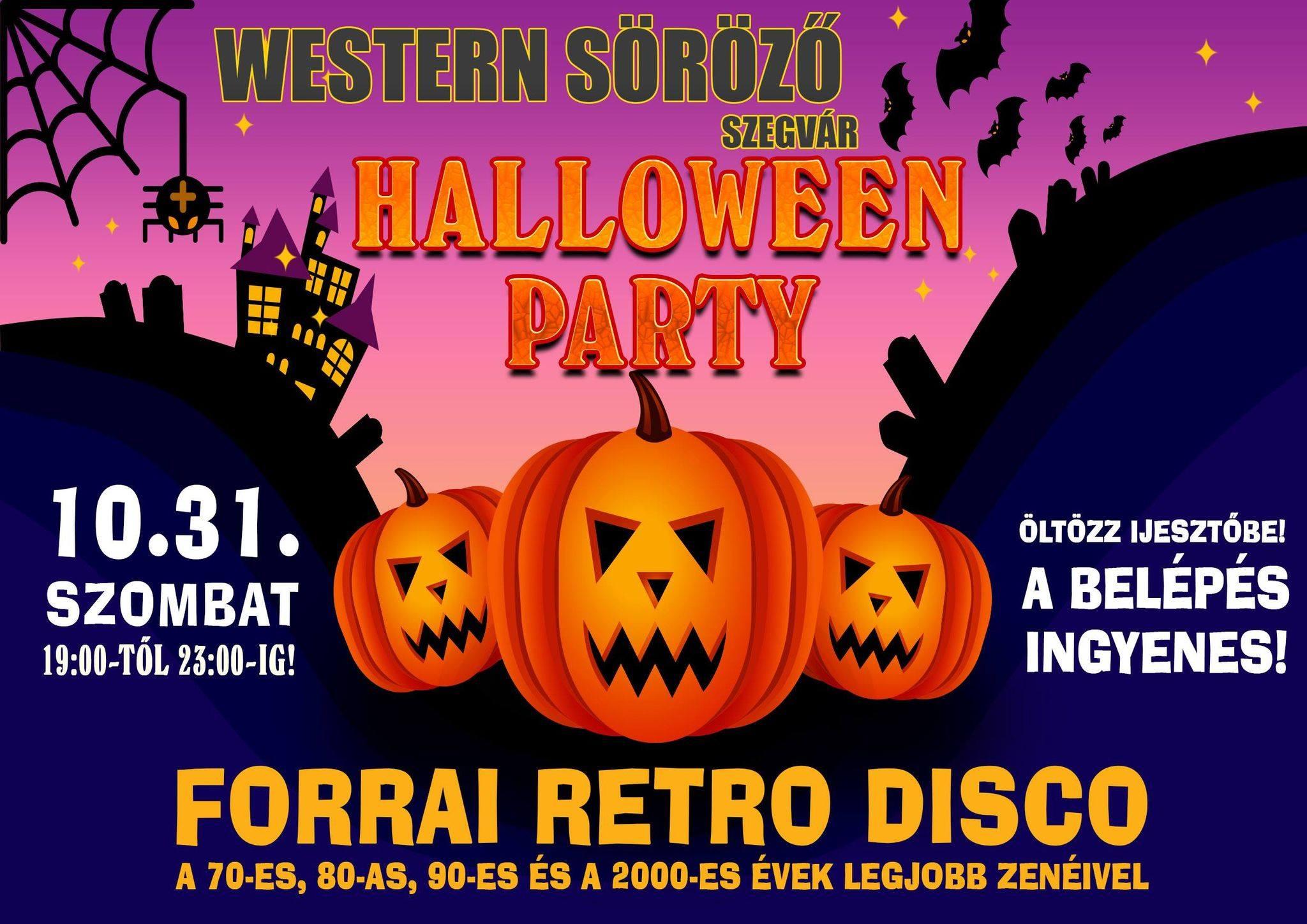 Halloween parti a Western Sörözőben