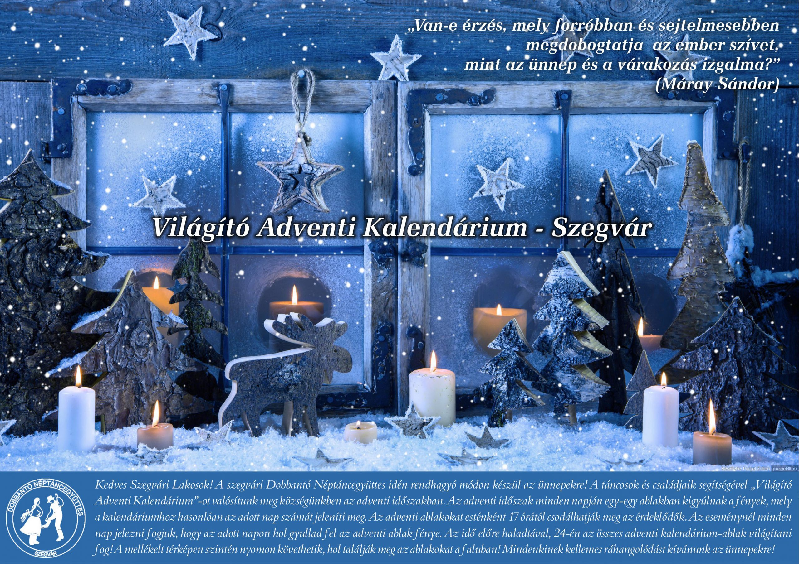 Világító adventi kalendárium