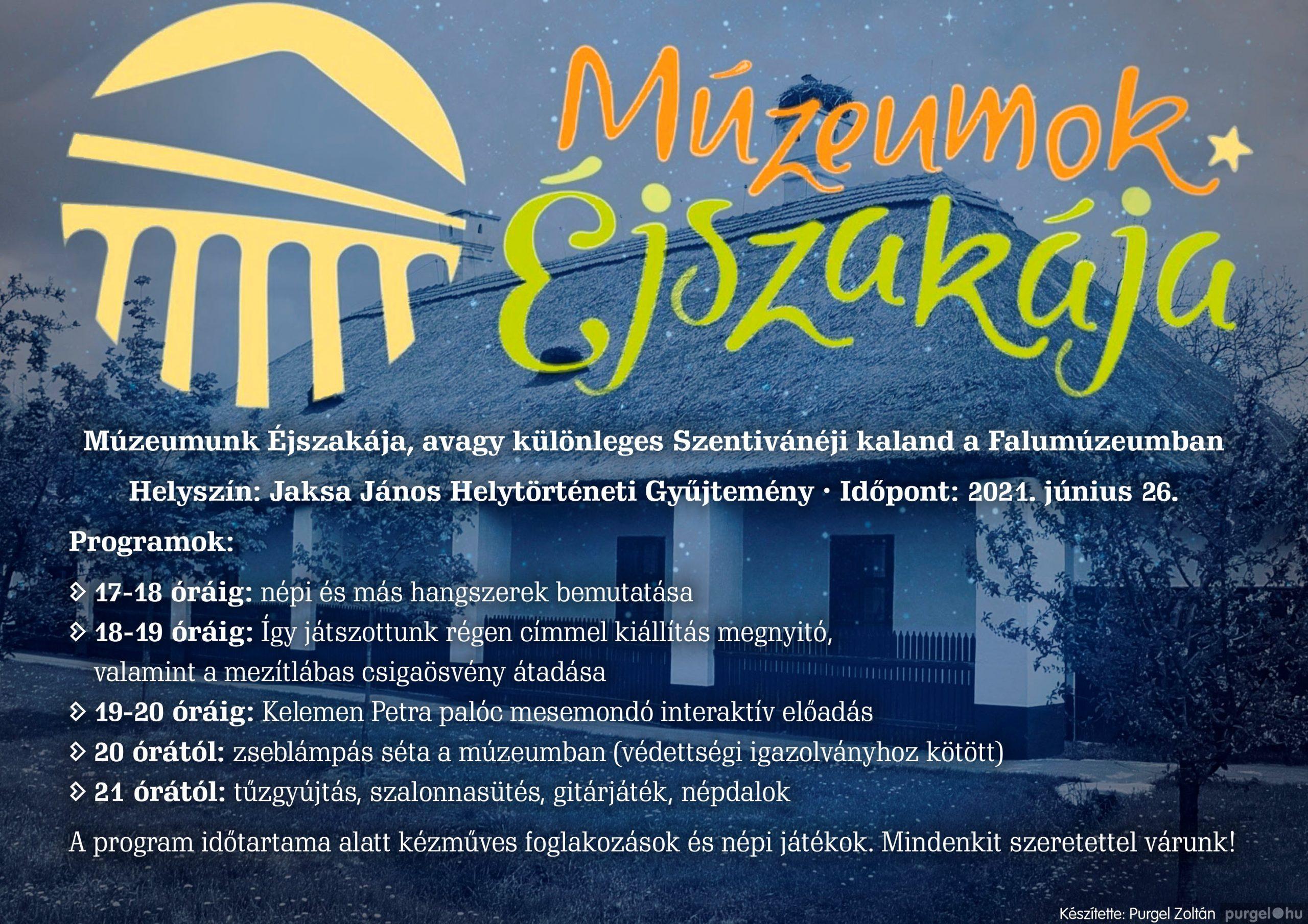 Múzeumunk Éjszakája, avagy különleges Szentivánéji kaland a Falumúzeumban