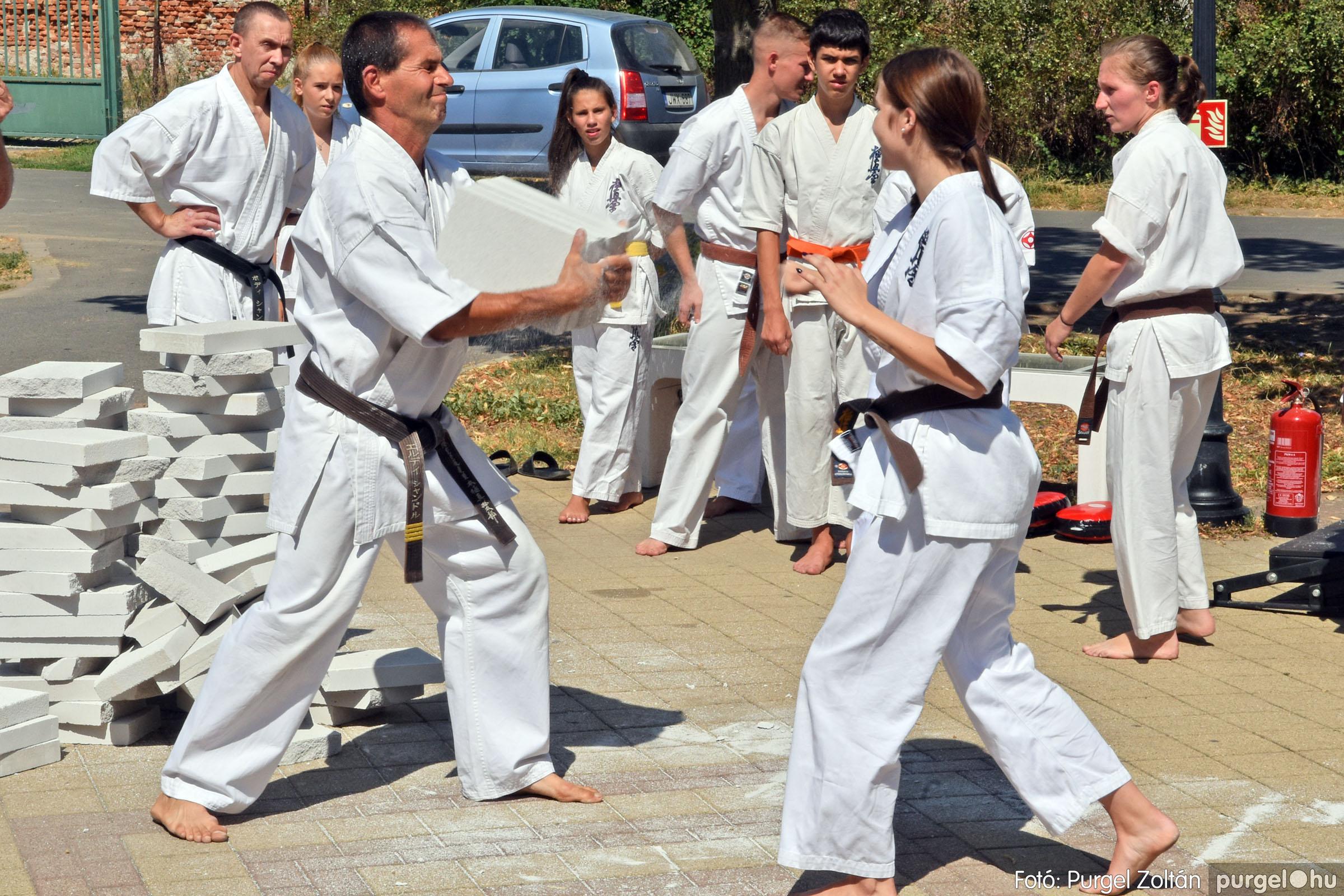Karate bemutató a Szegvári Falunapon