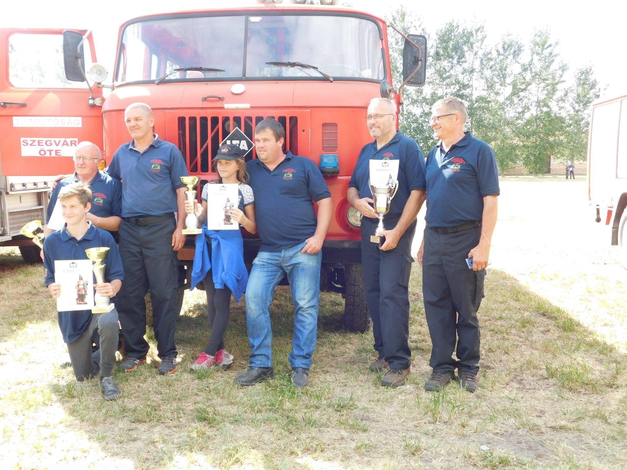 Dobogós helyezést értek el a tűzoltóversenyen